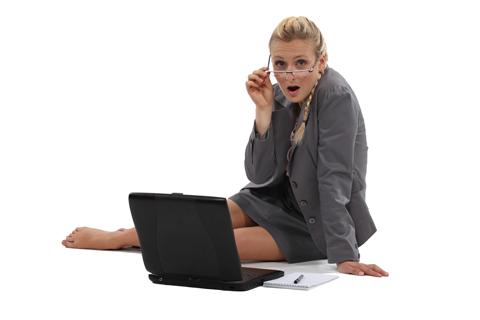 Não trabalhe com uma postura relaxada.