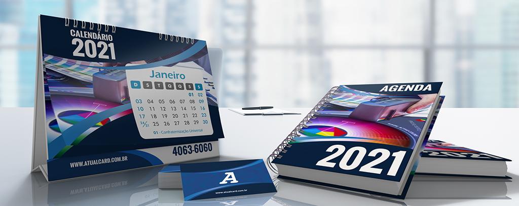 Agendas e calendários 2021 l Atual Card